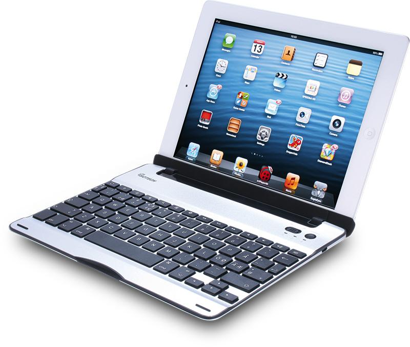 ISOTECH Bluetooth Keyboard for iPad 2/3/4  Nordic Layout (Alumin